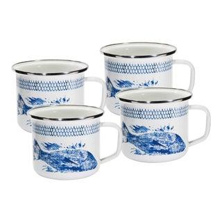 Grande Mugs Fish Camp - Set of 4 For Sale