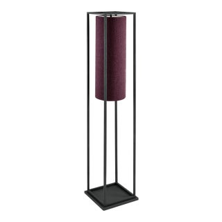 Black Textured Box Floor Lamp