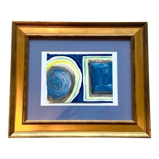 """""""Circles & Squares"""" Original Framed Painting For Sale"""