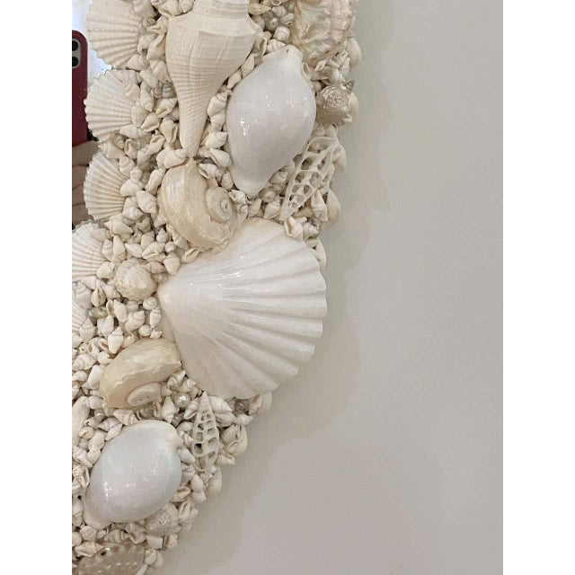 White Seashell Encrusted Mirror bySnob Galeries For Sale - Image 9 of 13