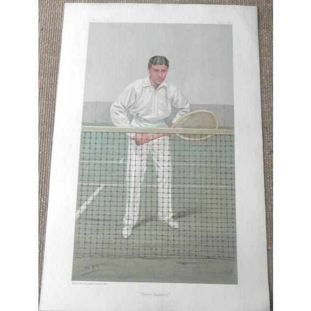 1904 Vanity Fair Tennis Print - Thrice Champion - Image 2 of 2