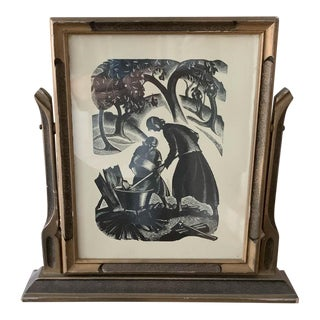 Art Deco Wood Picture Frame For Sale