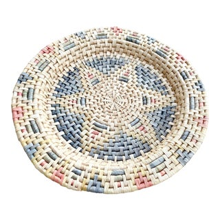 Woven Pattern Basket Large Wall Hanging For Sale