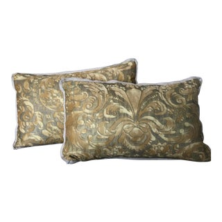 Mariano Fortuny Pillows- a Pair For Sale