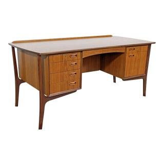 Mid-Century Danish Modern Svend Aage Madsen Teak Desk For Sale