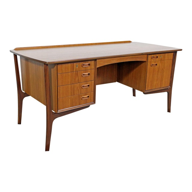 Mid-Century Danish Modern Svend Aage Madsen Teak Desk For Sale