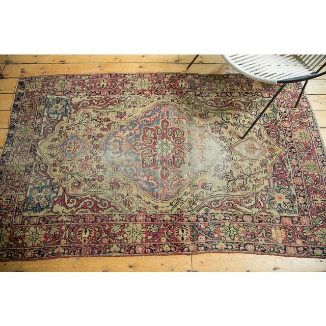 """Cottage Antique Kermanshah Rug - 4' x 6'6"""" For Sale - Image 3 of 10"""