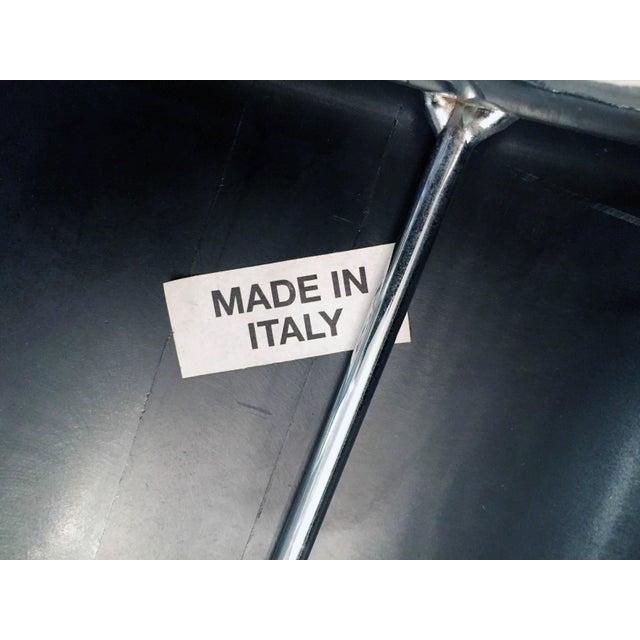 Italian Chrome Bar Stools - Set of 3 For Sale - Image 12 of 13