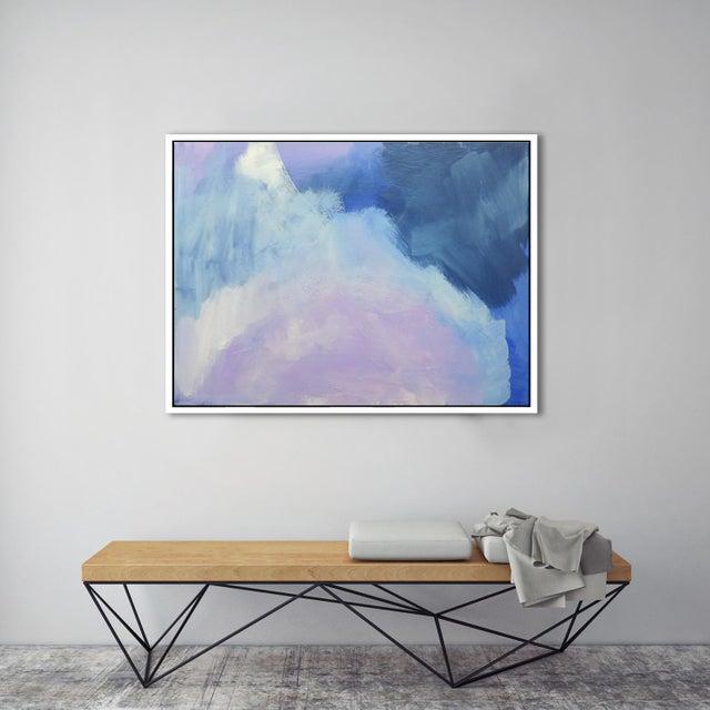 Modern Lavender Bloom - 30 X 40 For Sale - Image 5 of 6