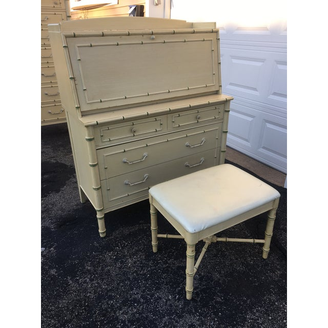 Very rare secretary desk made by Thomasville furniture. The desk comes with a bench as well. Great for hiding any unwanted...