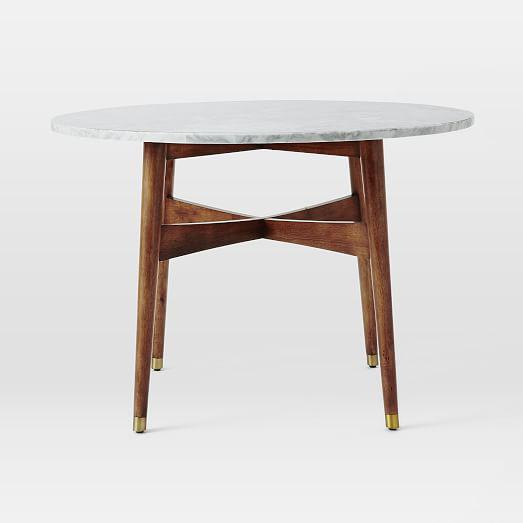 West Elm Marble Top Dining Table Chairish - West elm marble dining table