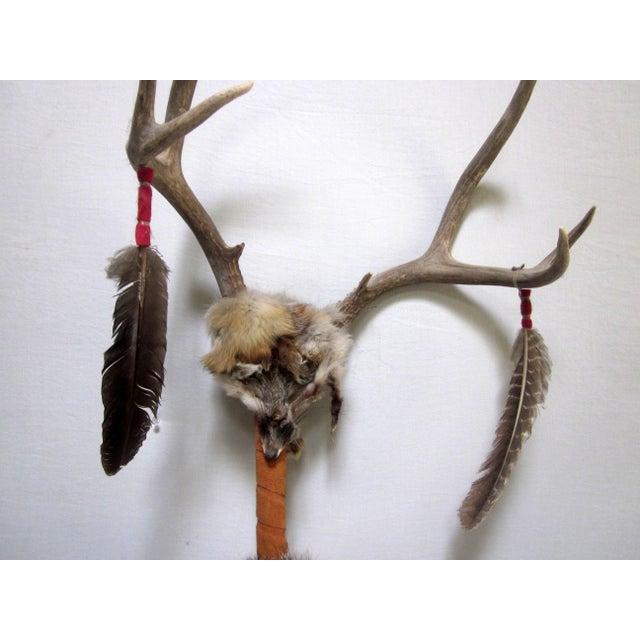 Vintage Native American Ceremonial Walking Stick - Image 4 of 8