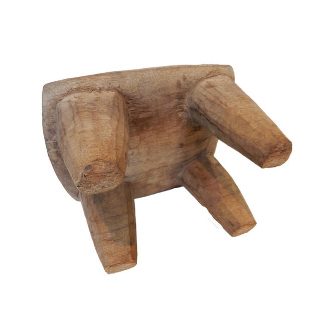 Vintage Senufo Low Milk Stool - Image 8 of 8