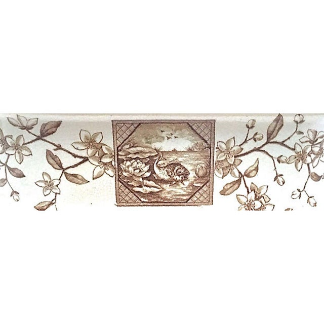 Brown Antique Floral & Scenic Transferware Tureen For Sale - Image 8 of 12