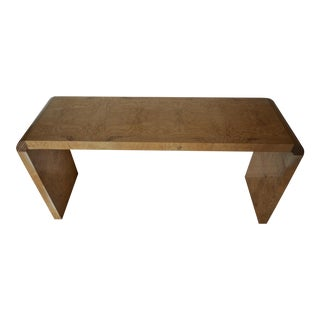 Henredon Scene Two Burl Wood Console Table or Small Desk For Sale