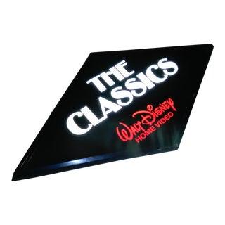 Vintage 1983 Union Company Walt Disney Black Diamond Store Display