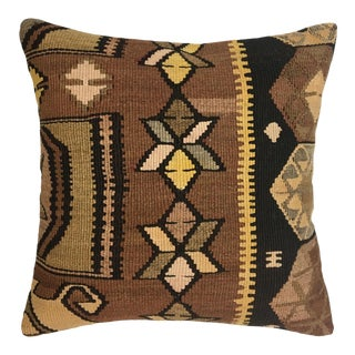 "Subdued Stars Vintage Kilim Pillow | 18"" For Sale"