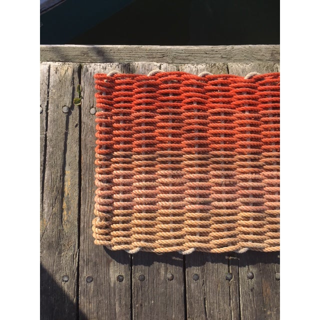 "Recycled Lobster Rope Doormat - ""Hey Ombre Orange"" - Image 2 of 4"