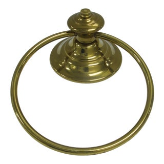 Mid-Century Modern Brass Towel Ring For Sale