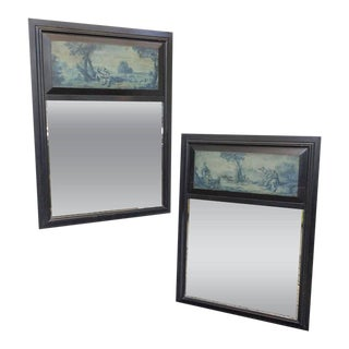 Pair of French 19th Century Trumeau Mirrors