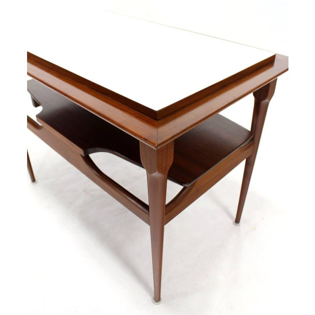 Pair of Mid Century Modern Walnut One Drawer End Tables or Night Stands For Sale - Image 9 of 9
