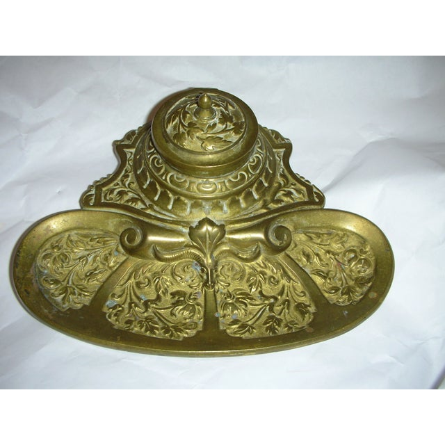 Ornate Brass Inkwell - Image 2 of 5