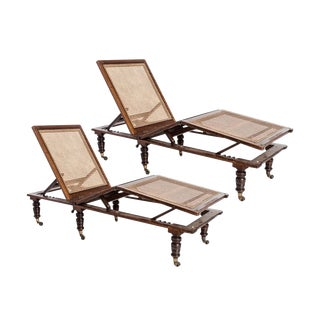 Antique Conservatory Chaise Lounges — a Pair For Sale
