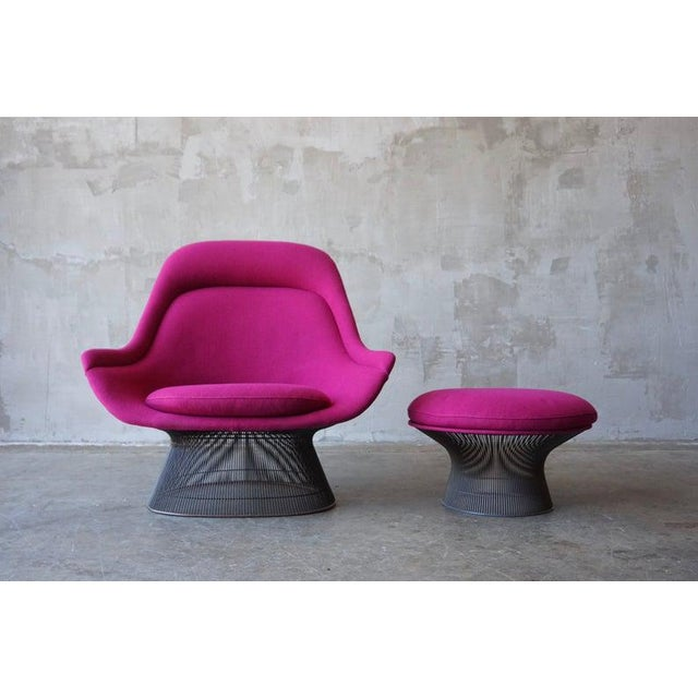 Warren Platner Brozne Easy Chair With Ottoman For Sale - Image 10 of 10