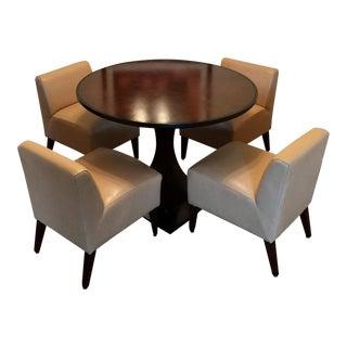 Transitional Mark David Designer Modern Wood Dining Set - 5 Pieces For Sale
