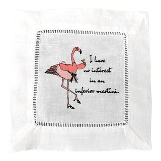 Cocktails With Patricia Limited Edition Linen Napkins - Set of 4 For Sale