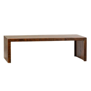 Reclaimed Wood Waterfall Coffee Table For Sale