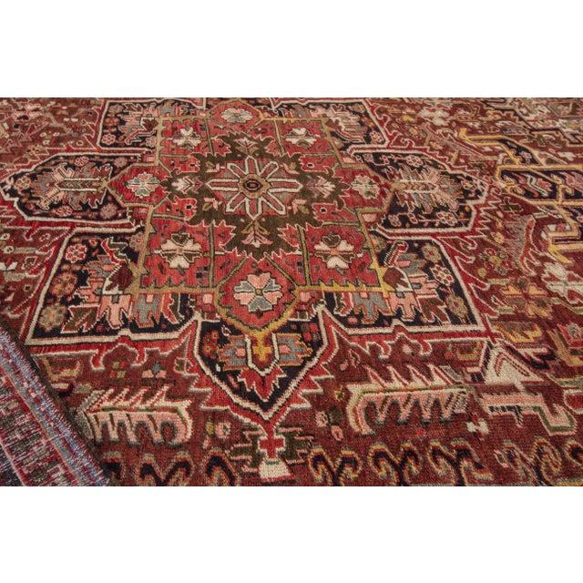 "Apadana - Vintage Persian Heriz Rug, 9'2"" x 11'6"" For Sale - Image 4 of 7"