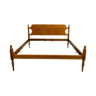 Shaker Style Vintage Custom Quality Low Post Maple King Bed For Sale