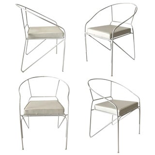 1960s Wrought Iron Armchairs — Set of 4