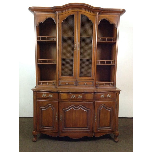 French Provincial-Style Oak Hutch - Image 2 of 4