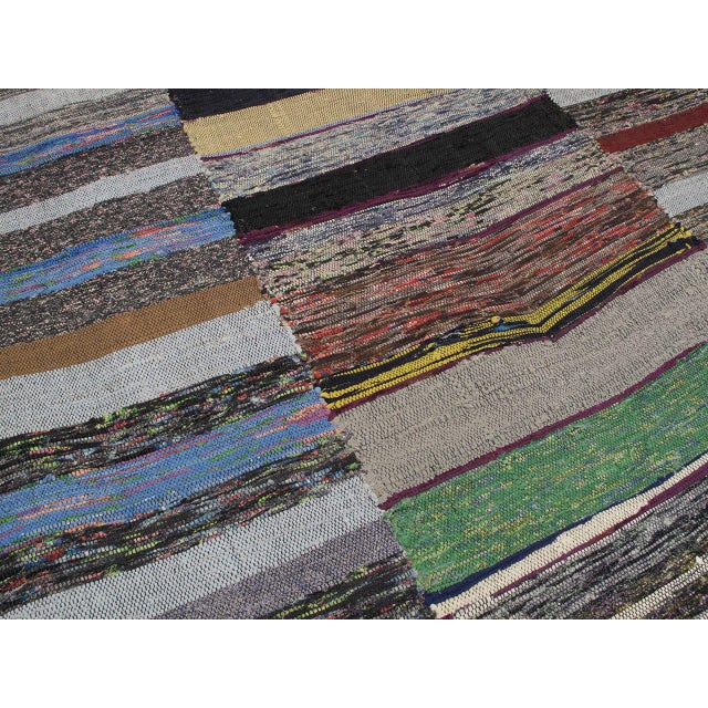 1980s Large Cotton Pala Kilim For Sale - Image 5 of 9