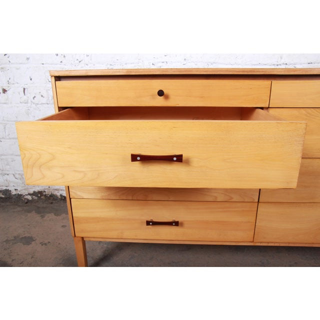 Metal Paul McCobb Perimeter Group Mid-Century Modern Eight-Drawer Dresser or Credenza, 1950s For Sale - Image 7 of 12