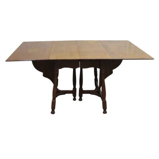 Antique Cherry Gate Leg Table For Sale