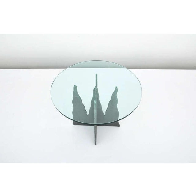 Pucci De Rossi Steel And Glass End Side Table - Image 6 of 6