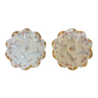 A. Lanterie French Oyster Plates - A Pair For Sale