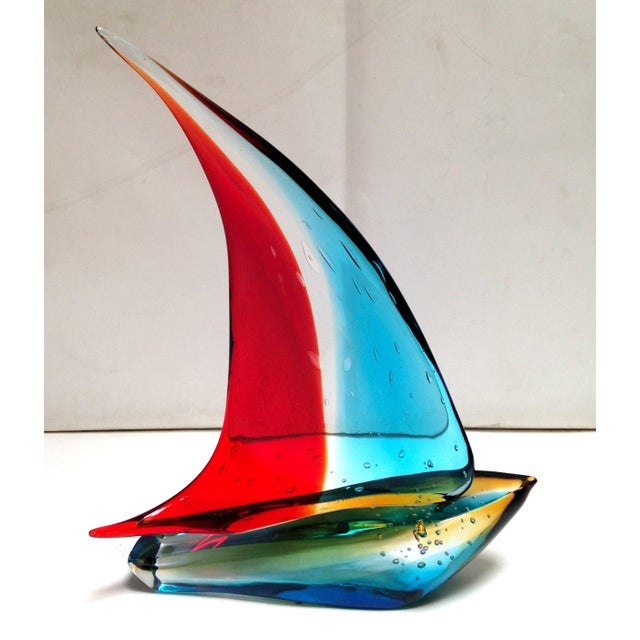 Figurative Sailboat Sculpture by Sergio Costantini For Sale - Image 3 of 6