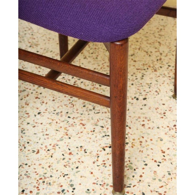 1950s Set of 4 Eva & Nils Koppel Mid-Century Modern Fumed Oak Dining Chairs For Sale - Image 5 of 8