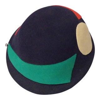 Art Deco Era Flapper Style Cloche Hat For Sale