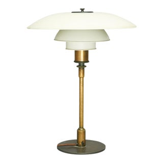 "Poul Henningsen PH4/3 Table Lamp, Stampled ""Pat. Appl"" For Sale"