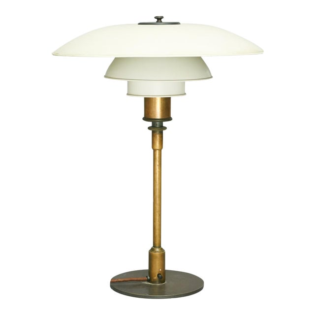 """Poul Henningsen PH4/3 Table Lamp, Stampled """"Pat. Appl"""" For Sale"""