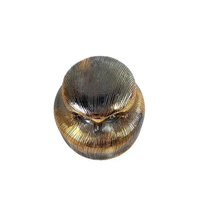 Gold Gold Bitossi Ceramic Owl For Sale - Image 8 of 8