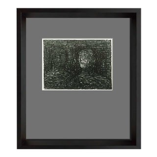 """Modern Henry Moore Lithograph Original """"Thin Lipped Armourer Ii"""" Ltd. Ed W/Archival Frame For Sale"""