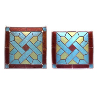 Stained Glass Panels- A Pair For Sale