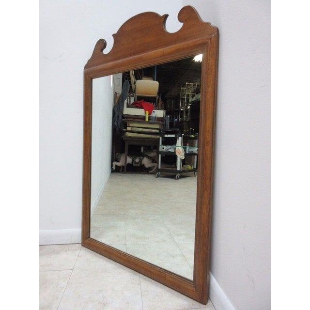 Mid-Century Modern 1776 Ethan Allen Dresser Hanging Wall Mirror For Sale - Image 3 of 10
