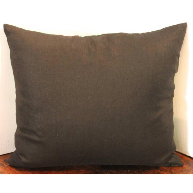 Mexican American Handwoven Serape Pillow For Sale - Image 4 of 4